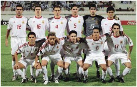 Alineación de España en el Mundial juvenil de EAU 2003, extraída del Informe Técnico oficial del torneo.