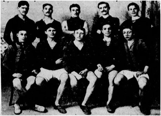 Componentes del Club AthlétiqueOranais en 1912
