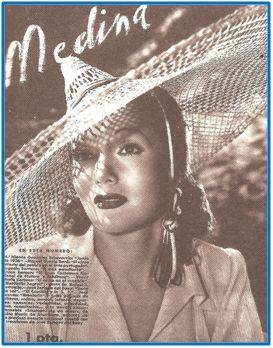 """""""Medina"""", órgano de la Sección Femenina. Sus portadas de aparente modernidad servían de escaparate a ideas muy rancias."""