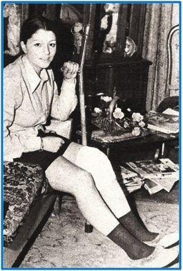 Gloria Angulo. Su condición de primera jugadora operada de menisco la convirtió en efímero personaje de actualidad.