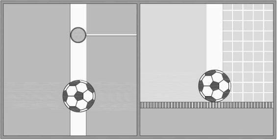 vista superior / vista lateral