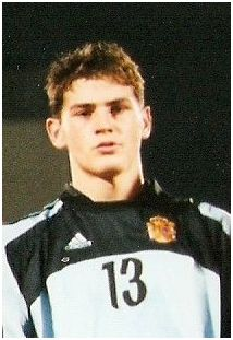 Iker Casillas Fernández, mundialista sub'20 español con más internacionalidades absolutas, en Nigeria 1999.