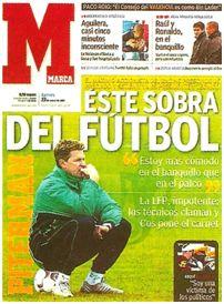 """El diario """"Marca"""" mantuvo una posición beligerante con respecto al extravagante Piterman."""