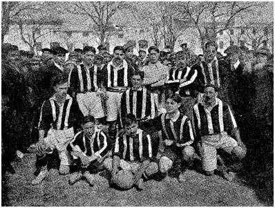 Con la selección catalana en Menorca en 1910