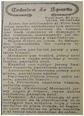 Anuncio del Concurso de Verano y equipos participantes, entre ellos el Mecánico y el Mallorca (La Almudaina, 7 de agosto de 1920)