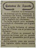 Crónica del primer partido del Baleares FC (La Almudaina, 23 de noviembre de 1920)