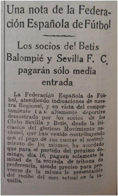 Fuente: FE 15 de enero de 1938