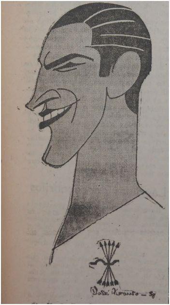 Dibujo de Guillermo Eizaguirre. Fe 25 de enero de 1938