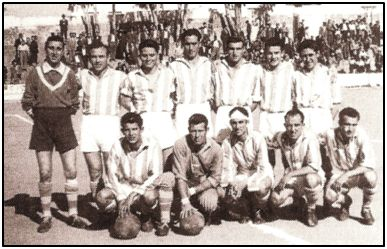 Formación de la Olímpica Valverdeña en los años 50.