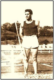 Pedro Apellániz Zárraga, lanzador de jabalina olímpico, corredor, saltador y futbolista en la Cultural de Durango.