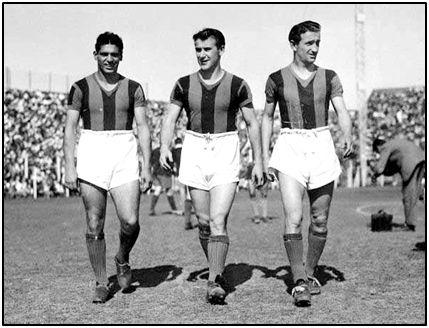 Ferro, Pontoni y Martino, tres astros del San Lorenzo.