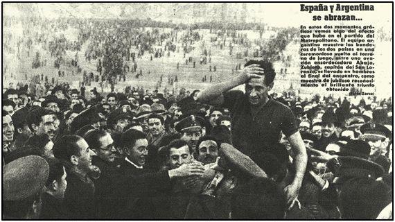 Entusiasmo. Con una sola palabra podría definirse la acogida del San Lorenzo por prensa y público españoles. La imagen, con Zubieta a hombros, tampoco puede ser más expresiva.