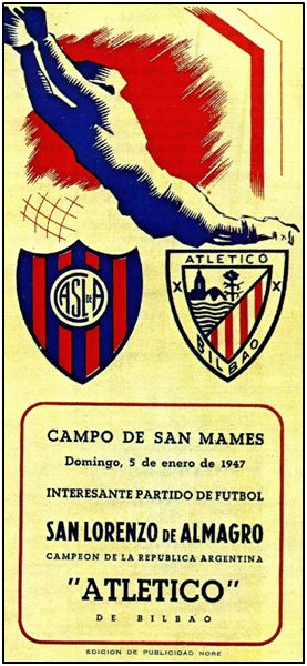 Cartel del encuentro en San Mamés, resuelto con empate que ambos equipos consideraron justo.