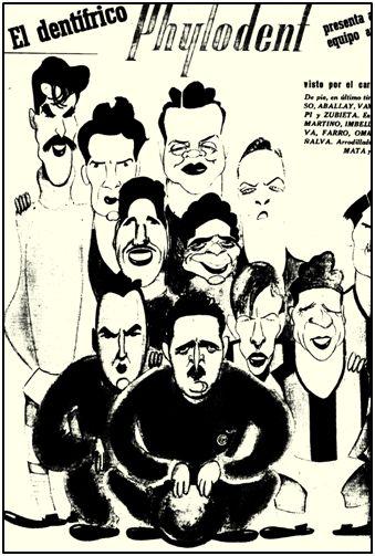 La gira también sirvió para que avispados publicistas hiciesen negocio. Los jugadores del San Lorenzo, caricaturizados, constituyeron reclamo de un dentífrico, sin abonar nada por derechos de imagen.