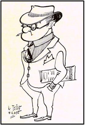 José María Mateos, caricaturizado por el dibujante bilbaíno K. Toño Frade.