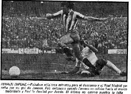 El diario Marca ofreció la imagen de la jugada clave en fotografía de Caballero.