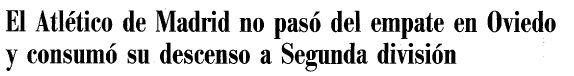 Titular del Diario Abc 08/95/2000
