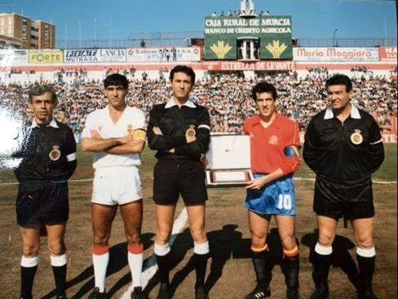 Real Murcia-Selección Española Fotografía cedida por cortesía de Juan Algar y Juan Carlos Fernández Romo