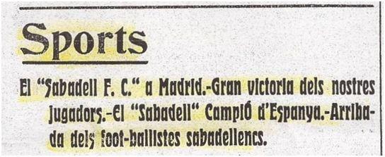 Diari de Sabadell, 28 de mayo de 1913