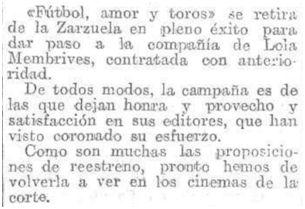 El Heraldo de Madrid, 15-1-1930.