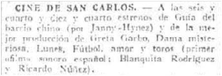 El Imparcial, 16-1-1930.