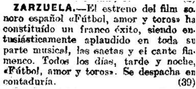 El Heraldo de Madrid, 8-1-1930.