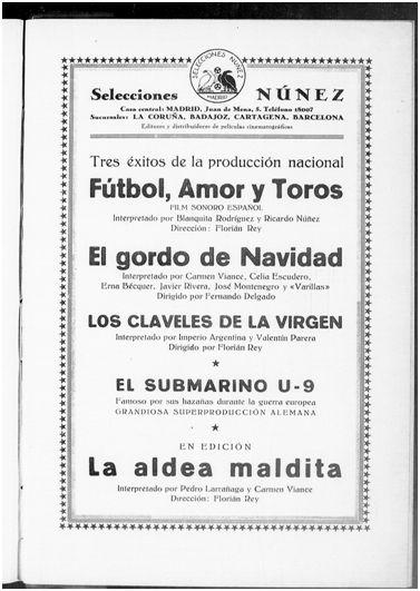 Arte y cinematografía, noviembre de 1929
