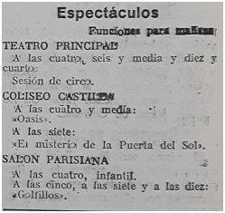 Diario de Burgos, 11-1-1930.