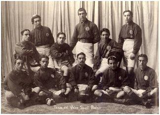 Equipo del Veloz Sport Balear, campeón de Mallorca y subcampeón de Baleares (1909)