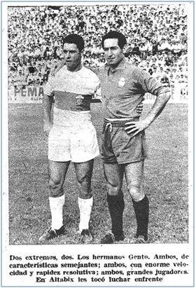 Los hermanos Gento (Julio y Paco) se enfrentaron por primera vez el 25 de septiembre de 1960 en el estadio de Altabix donde el Real Madrid se impuso al Elche por 3-4