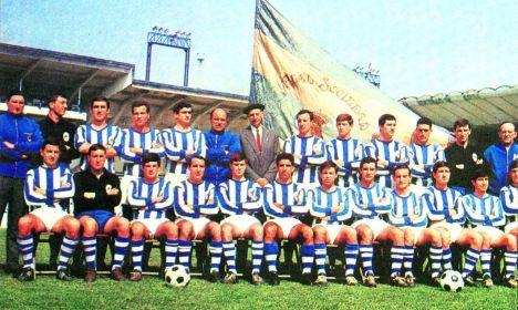 Plantilla Real Sociedad 1966/67 Campeón de Liga de Segunda División Grupo Norte Fotografía cedida por cortesía de Adolfo Fernández Vaz