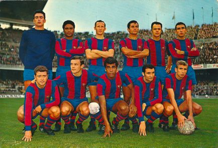 BARÇA 2-BETIS 1: Una de las primeras alineaciones ligueras de Artigas: Sadurní; Benítez, Gallego, Torres; Muller, Zabalza; Oliveros, Zaldúa, Mendonça, Fusté y Rexach.