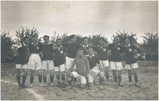 Formación del Stadium que se enfrentó al Murcia FC el 3 de abril de 1918 en el campo de La Torre de la Marquesa