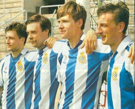 De izquierda a derecha Korneiev, Galyamin, Moj y Kuznetsov