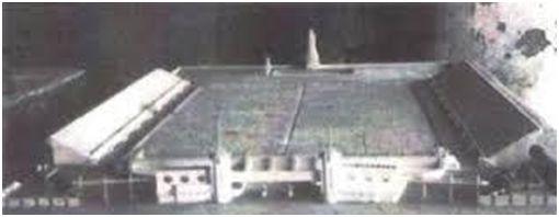 Maqueta del estadio de La Rosaleda.