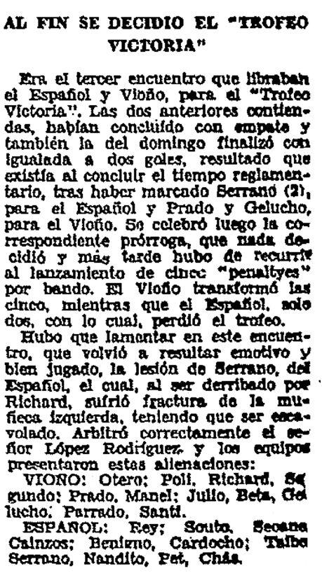 El Ideal Gallego, 4 de septiembre de 1962, página 18.