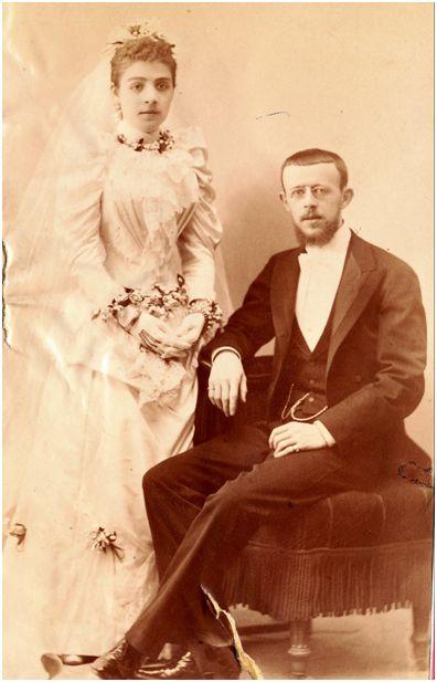Figura 3. Boda de Narciso Masferrer y Esperanza Navarro, Madrid, julio de 1891 Fuente: fotografía cedida por Victòria Masferrer Alfonso, nieta de Narciso.
