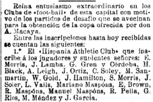 La Vanguardia, 28/12/1900