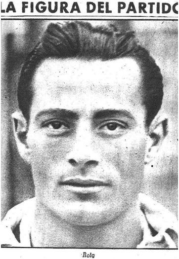 Francisco Roig Zamora nació en Santa Cruz de Tenerife, el 15 de septiembre de 1915. Foto publicada en la portada de Marca el día 16 de febrero de 1943.
