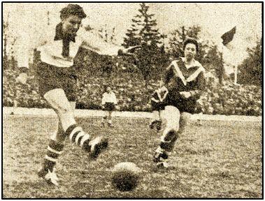 En Inglaterra trataron de hacer algo serio del fútbol femenino allá por 1957, conforme atestigua la instantánea.
