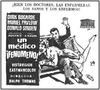 El machismo estaba omnipresente en la sociedad española de los 50. Cartel, hoy impensable, de una película estrenada durante 1958.
