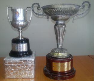 Los trofeos de campeón y subcampeón de Copa del Rey de Pérez García. Foto del propio jugador, gentileza de Javier Vázquez