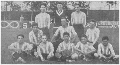 Equipo de la Gimnástica en 1925. Foto diario La Atalaya
