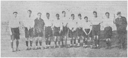 El Boulevard F.C. en marzo de 1929. Foto Redón (El Cantábrico)