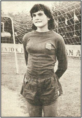Victoria Hernández a sus 14 años. A punto estuvo de ingresar en un equipo francés.