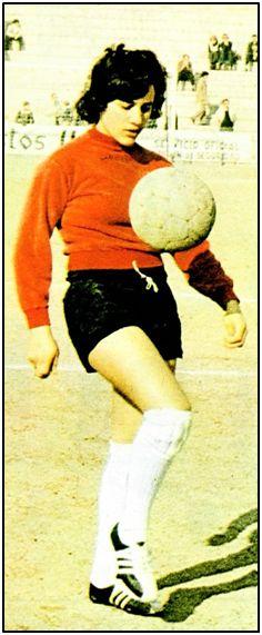 """Concepción Sánchez Freire """"Amancio"""", estrella del Olímpico Villaverde, en 1973."""