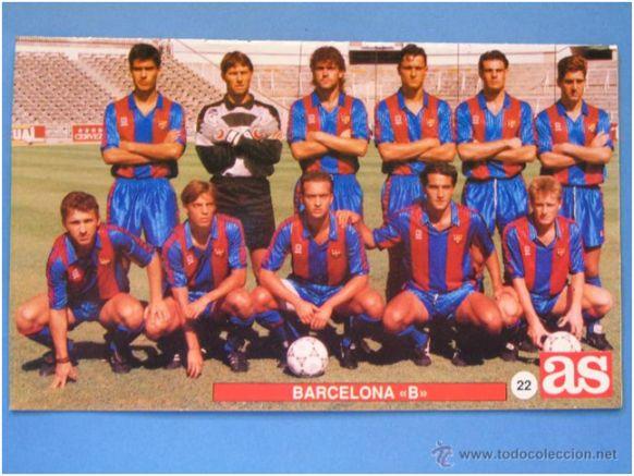 Formación 1991-92: Arriba: Guardiola, Angoy, Carreras, Tomàs, Oliete, Vera. Abajo: Joaquín, Maqueda, Álex, Pinilla, Pozanco.