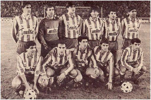 El once rojiblanco en el Bernabéu.