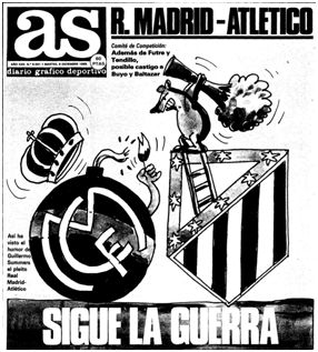 Portada del Diario AS durante la semana de declaraciones postpartido.