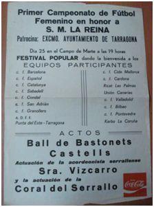 Cartel de la Copa Reina Sofía, junio de 1981 (Revista de futbol feminino galego, 4)